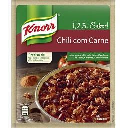 Chili 1, 2, 3...sabor! Chili com Carne