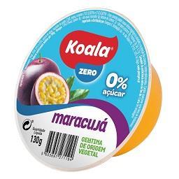 Gelatina de origem vegetal de maracujá 0%