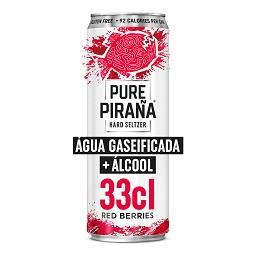 Pure piraña red berries lata 33cl