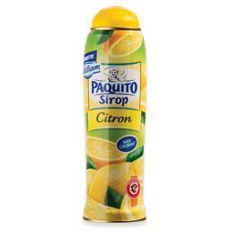 Xarope de limão sem corantes