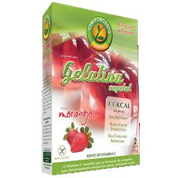 Gelatina vegetal morango