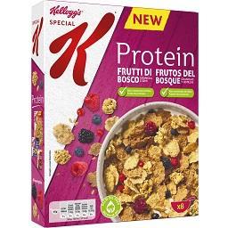 Cereais com frutos do bosque special k protein
