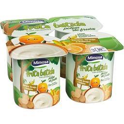 Iogurte fruta batida banana/laranja/bolacha