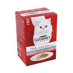 Comida húmida para gato seleção de peixes