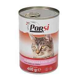 Comida húmida gato almondegas com aves