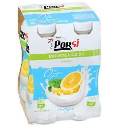 Iogurte líquido magro de limão