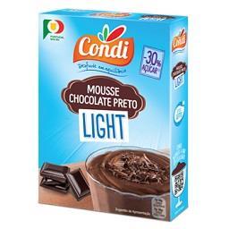 Mousse de chocolate preto light