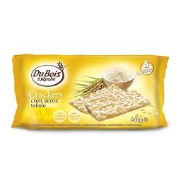 Bolachas crackers, arroz tufado
