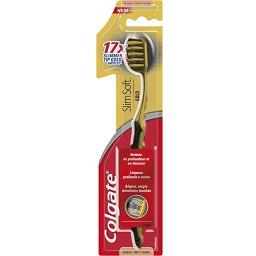 Escova dentífrica, slim soft, gold-tip