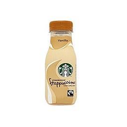 Bebida de leite frappuccino vanilla