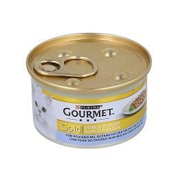 Comida húmida para gato duplo prazer com peixe do oc...