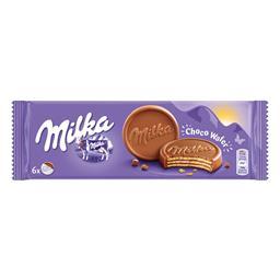 Bolachas waffers com chocolate de leite