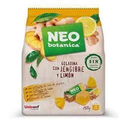 Gomas gelatina de jengibre e limão