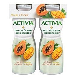Iogurte líquido de manga e papaia zero açúcares