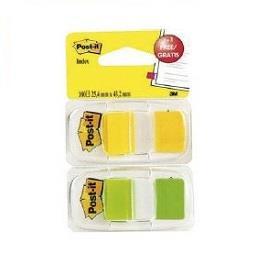 Separadores Index Verde + Amarelo