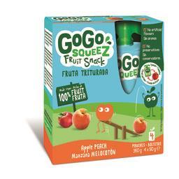 Gogosqueez snack pêssego 4x90g