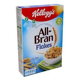 Cereais all bran, flakes