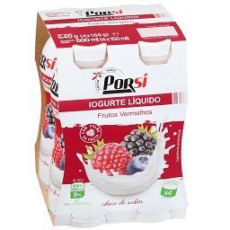 Iogurte líquido de frutos vermelhos