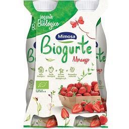 Iogurte líquido meio-gordo com morango, biológico