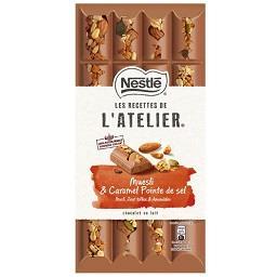 Chocolate de leite L'Atelier com muesli e caramelo s...