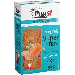 Mini tostas integrais super finas