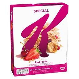 Cereais special k, frutos vermelhos