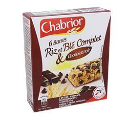 Barras de cereais integrais de chocolate preto
