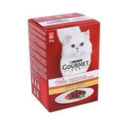Comida húmida para gato seleção de aves