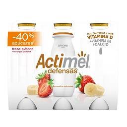 Iogurte Actimel de morango e banana -40% açúcar