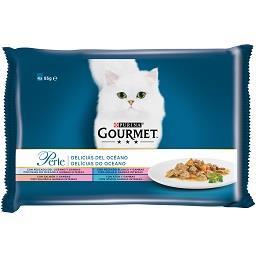 Comida húmida para gato delícias do oceano