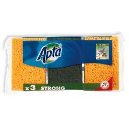 Esponja vegetal com esfregão verde, pack 3 unidades