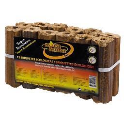 Briquetes madeira, 12 unidades