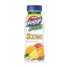 Yoggi iogurte liquido smoodi frutos tropicais