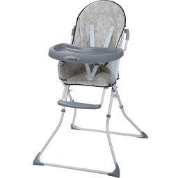 Cadeira alta para refeição cinza