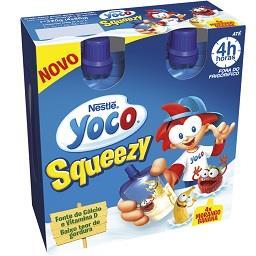 Yoco squeezy sabor morango/banana