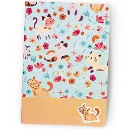 Caderno agrafado PP A4 | 48 folhas | pautado