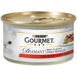 Comida húmida para gato com vaca