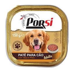 Comida húmida para cão de vaca e peru