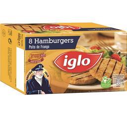 8 hamburguers s/ glúten frango