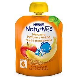 Fruta para bebé maçã banana aveia +6 meses
