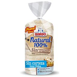 Pão de forma sem côdea 100 % natural