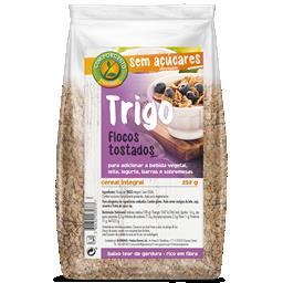 Flocos de trigo tostados sem açúcar
