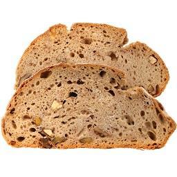 Pão rustico fatiado para tostas