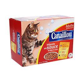 Alimento húmido gato molho carne