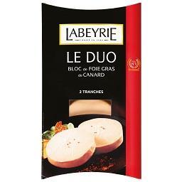Foie gras de pato fatias