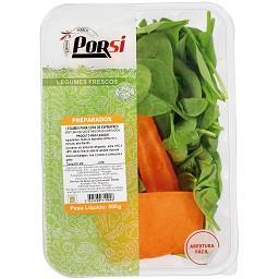 Legumes preparados para sopa de espinafres