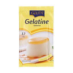 Gelatina branca,  12 folhas