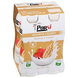 Iogurte líquido morango/cereais