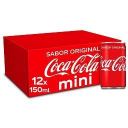 Refrigerante com gás cola, mini lata