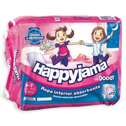 Fraldas Menina Happyjama 4-7 Anos 17-29 kg Tamanho 7